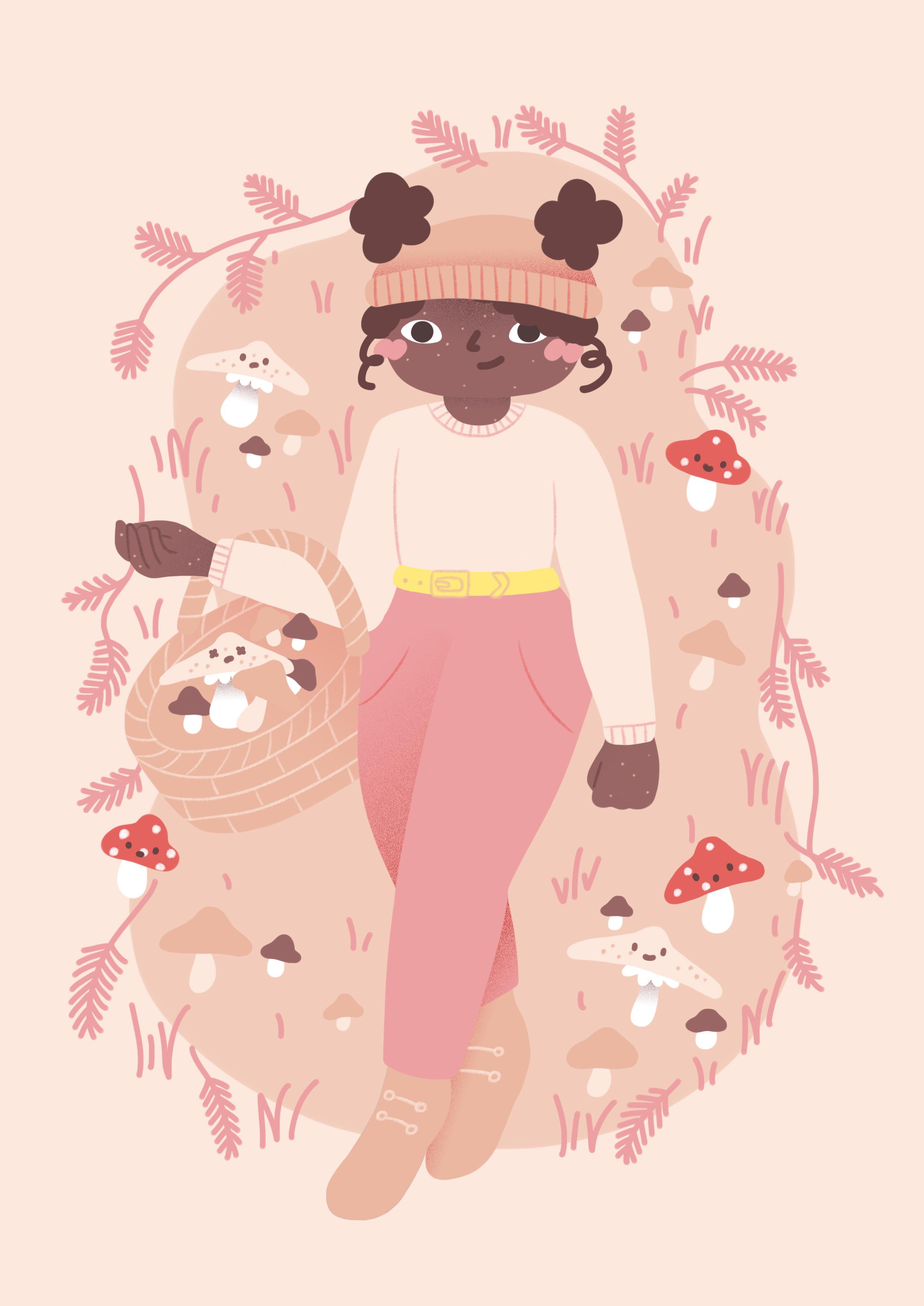 mushroom_girl_leaves